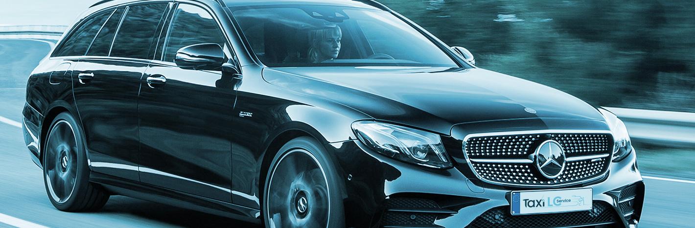 véhicule taxi lc service Mercedes class E